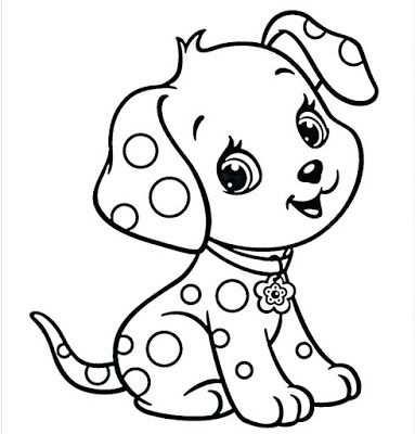 kleurplaat hondje schattig