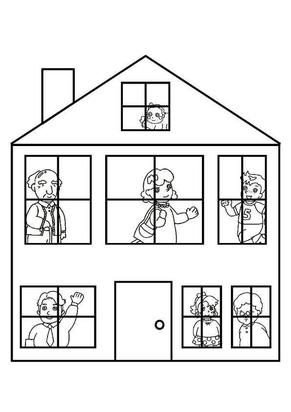 Kleurplaat Huis Google Zoeken Werkbladen Kleurplaten Sprookjes