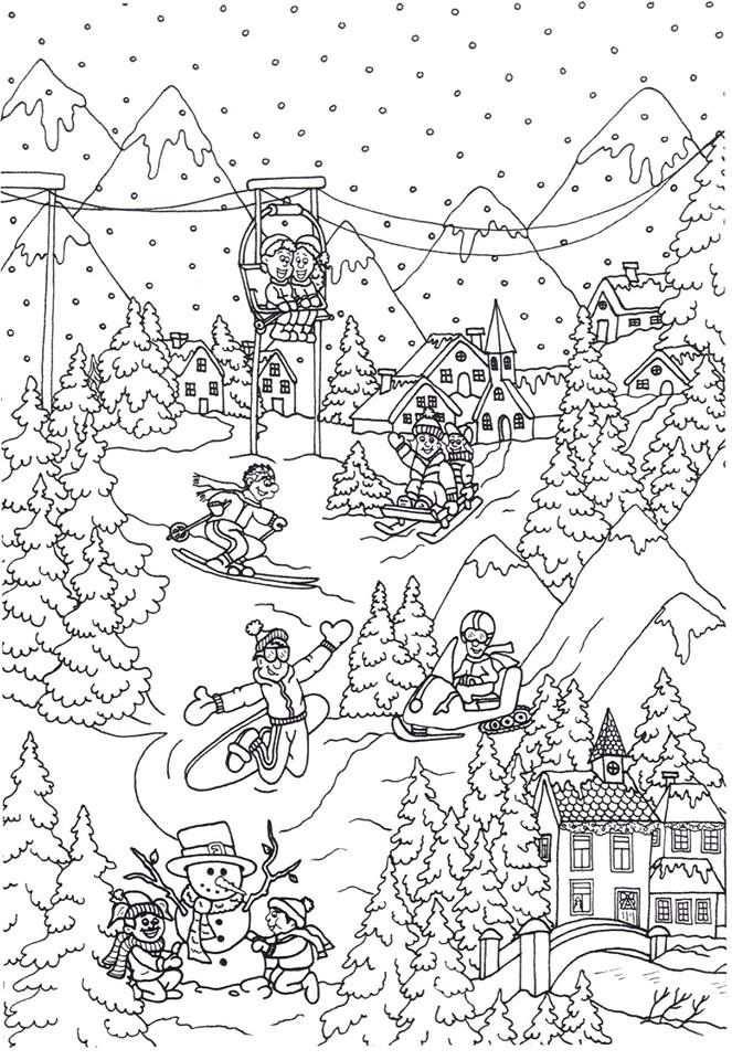 Nieuwe Kleurplaat Wintersport Door Suzanne Amels In 2020 Met