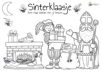 Kleurplaat Sinterklaas Jufbijtje Nl Sinterklaas Kleurplaten