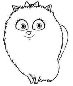 Coloring Page Secret Life Of Pets Gidget 2 On Kids N Fun Co Uk On