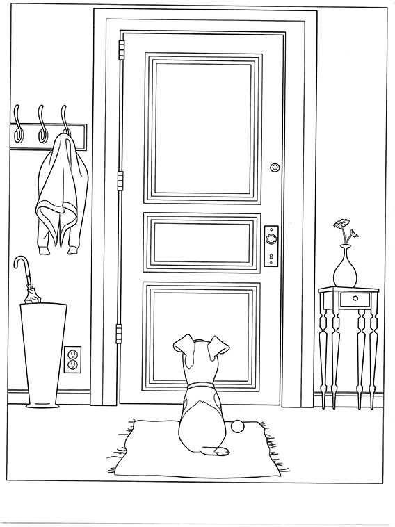 The Secret Life Of Pets Coloring Pages 10 Dibujos Dibujos