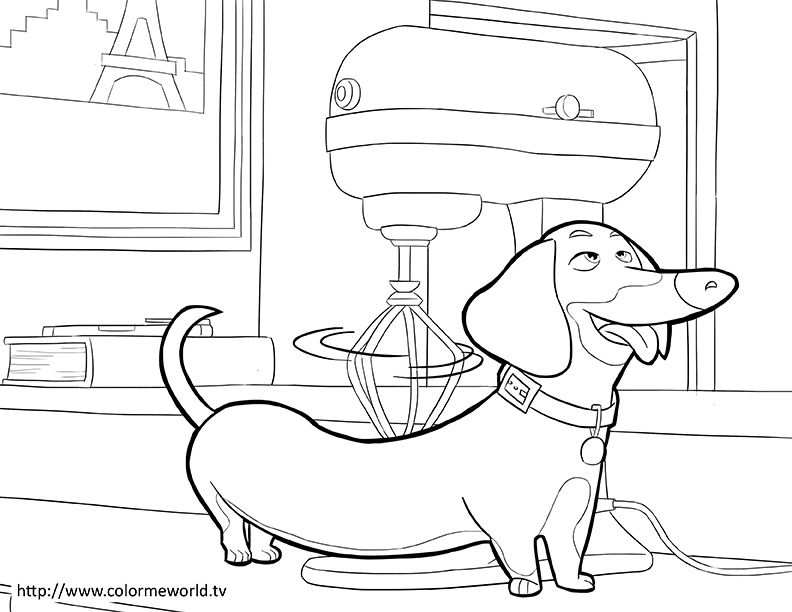 The Secret Life Of Pets Coloring Page Craft Kiddies Coloring