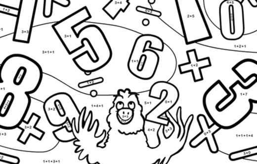 Kleurplaat Waku Waku Rekenen Wiskunde Spelletjes Wiskunde