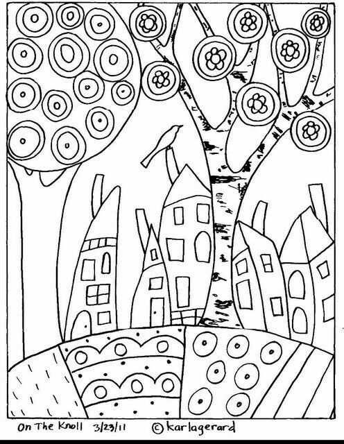kleurplaat huisje boompje beestje