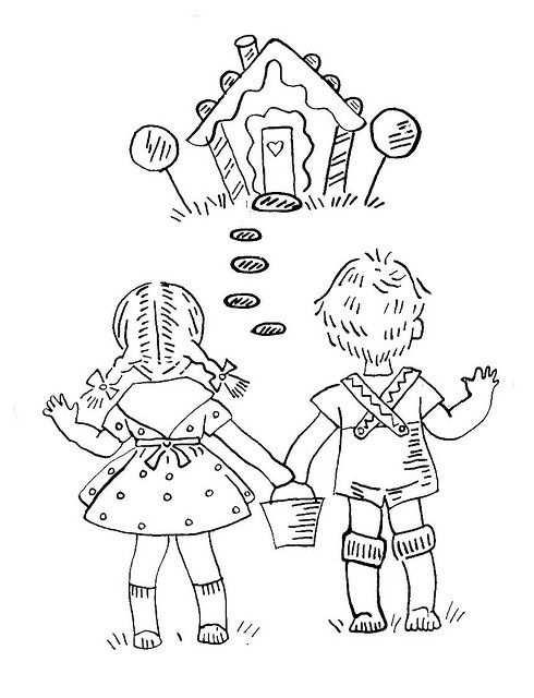 Hansel And Gretel Embroidery Transfer Joao E Maria Historia
