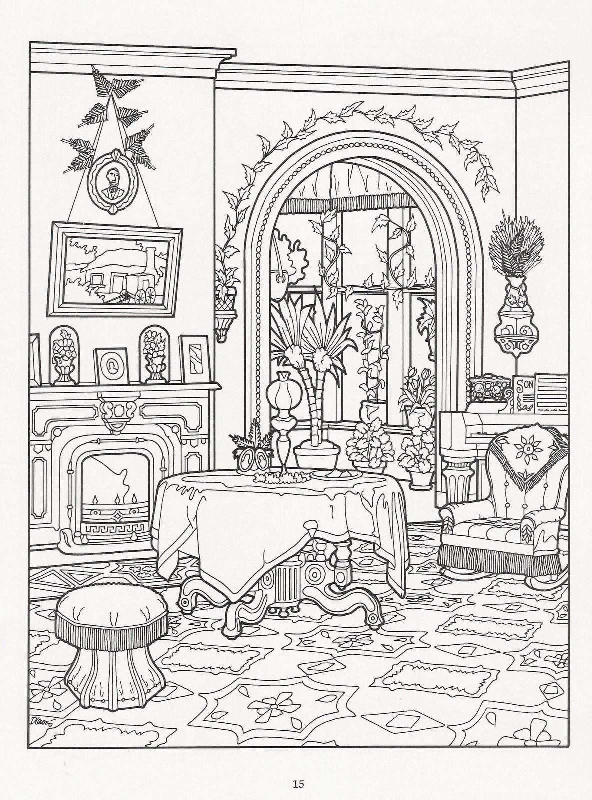 Album Archive With Images House Colouring Pages Coloring