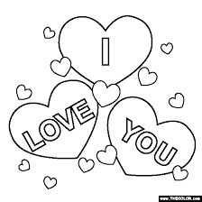 Afbeeldingsresultaat Voor Kleurplaten I Love You Corazones