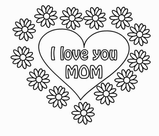 Coloring Sheets I Love You Mothers Day Coloring Pages