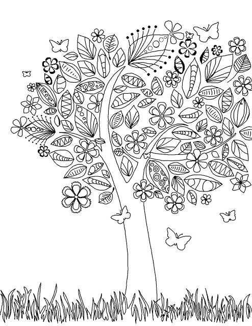 Tree Portrait Libros Para Colorear