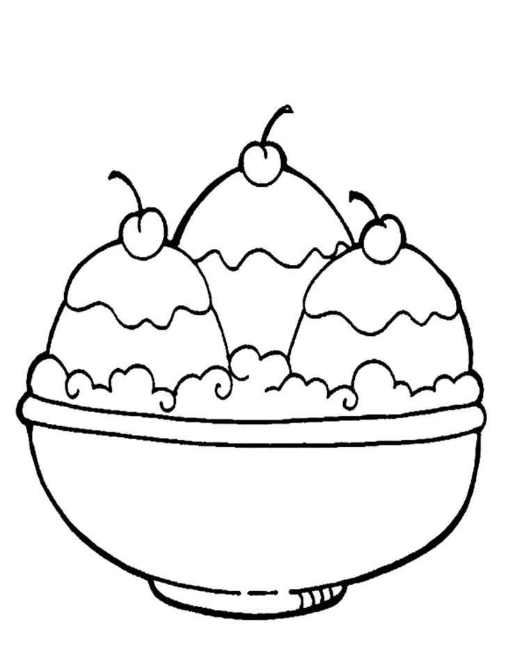 Cherries Ice Cream Coloring Pages Ice Cream Coloring Pages Ice