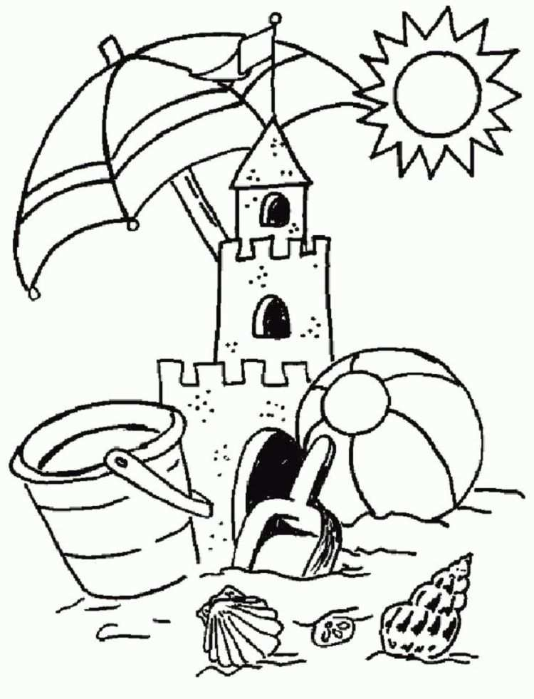 Summer Coloring Pages For Preschool Summer Coloring Pages