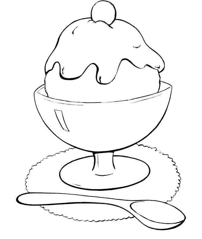 Ice Cream In Glass Coloring Pages With Images Ice Cream
