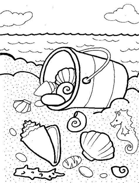 Beach And Sea Shell Coloring Pages Any Ofthese Pages To Your