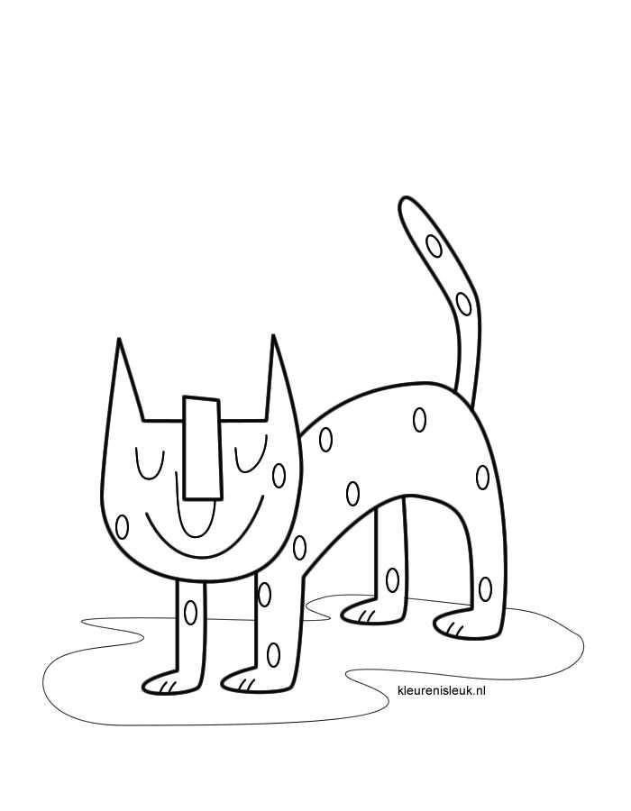 Kleurplaat Kat Kleurplaten Katten En Tekenen