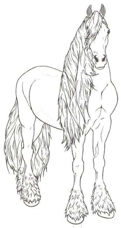 Friesian Horse By Requay Kleuren Wm Kleurplaten Dieren