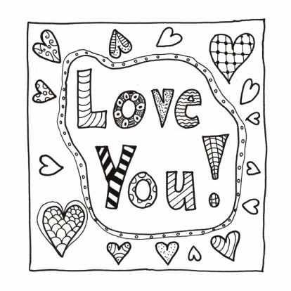 Love You Kleurkaart Te Verkrijgen Bij Kaartje2go Met