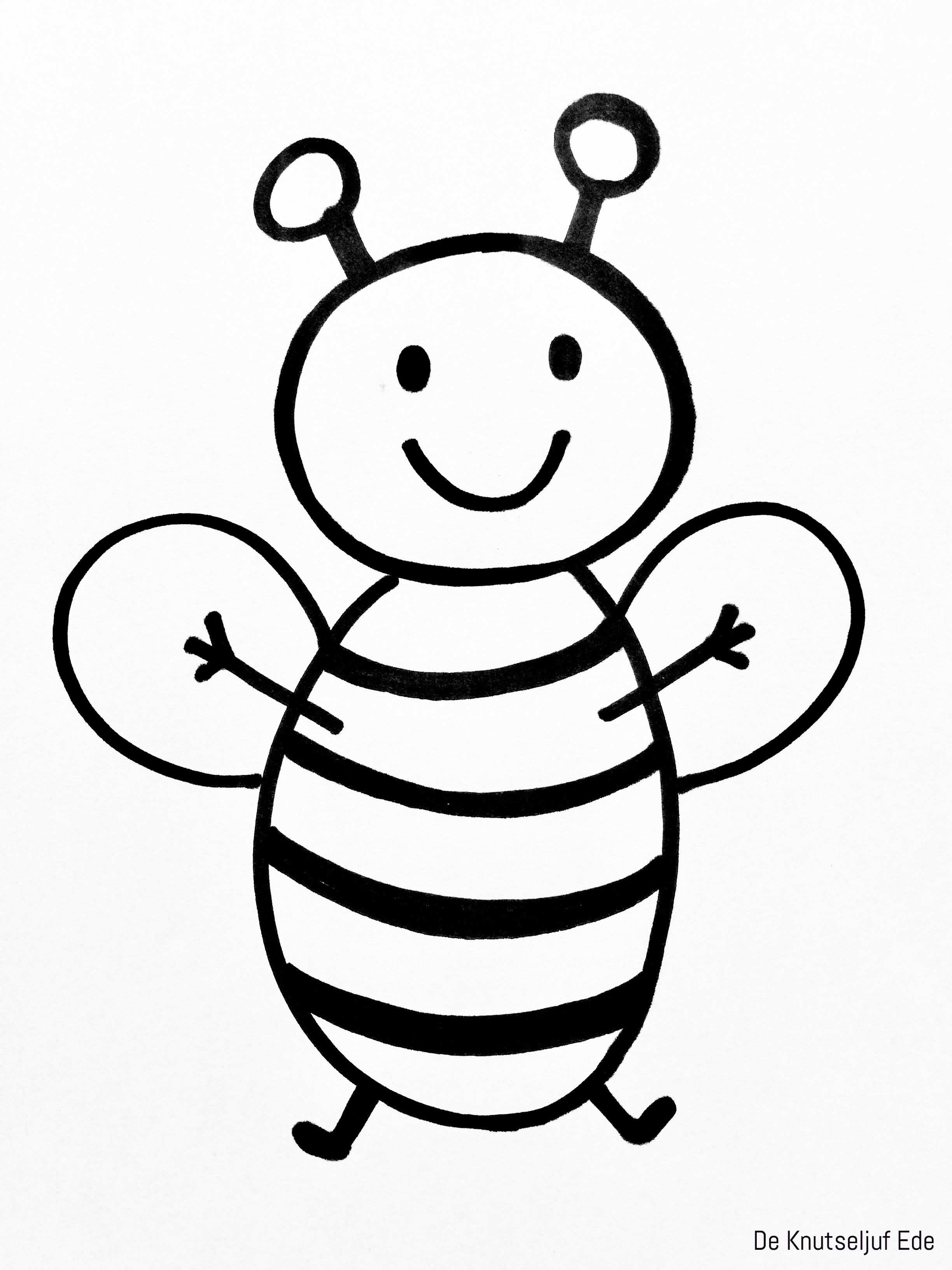 Kleurplaten Bijen Een Bijtje Voor Erbij Kleurplaten Gratis