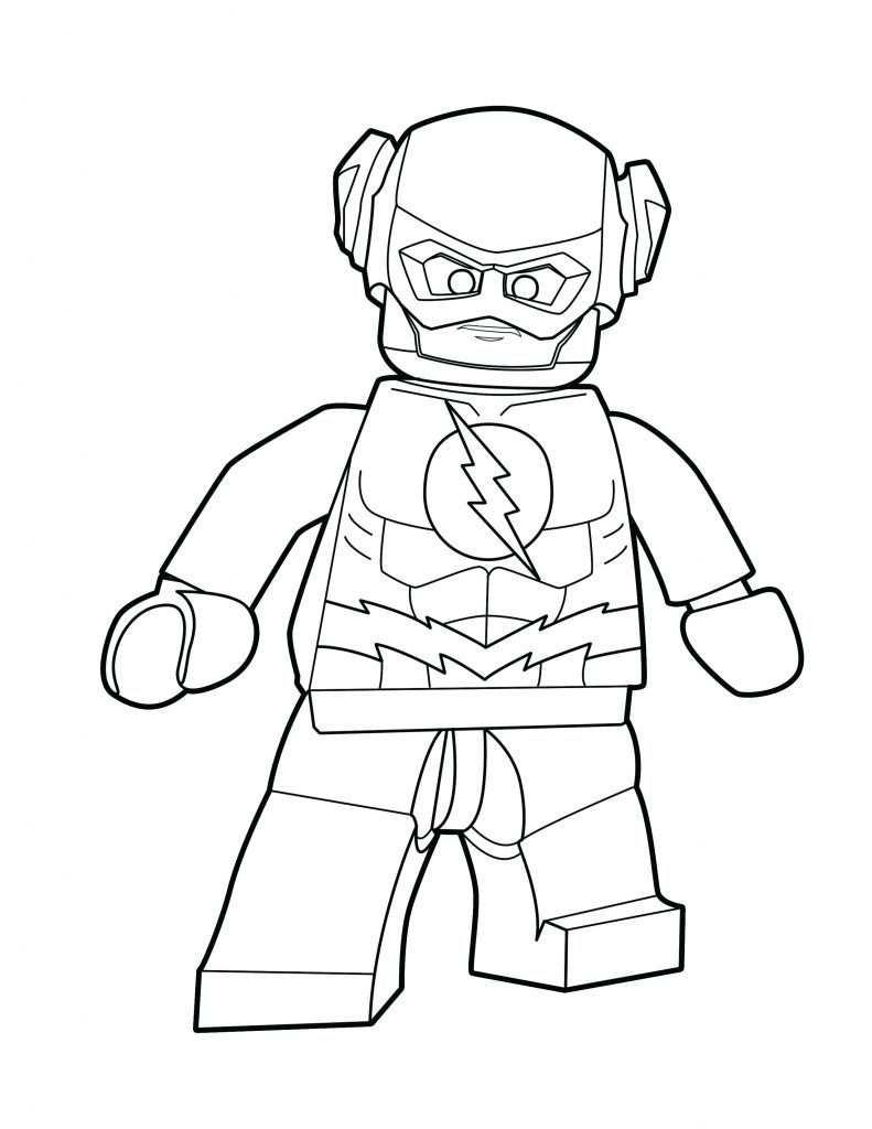 kleurplaat iron man lego