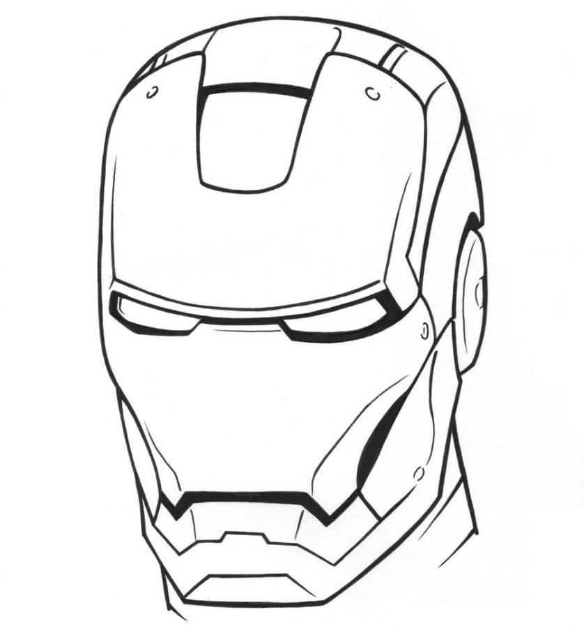 kleurplaat iron masker