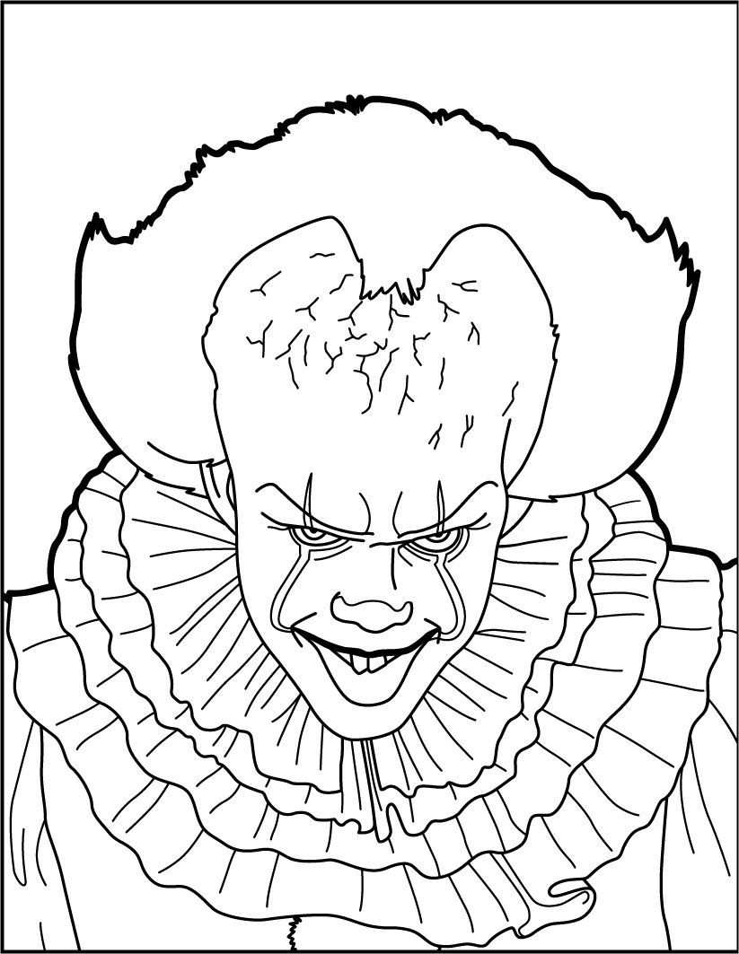 Pennywise The Clown Coloring Pages Free Http Www