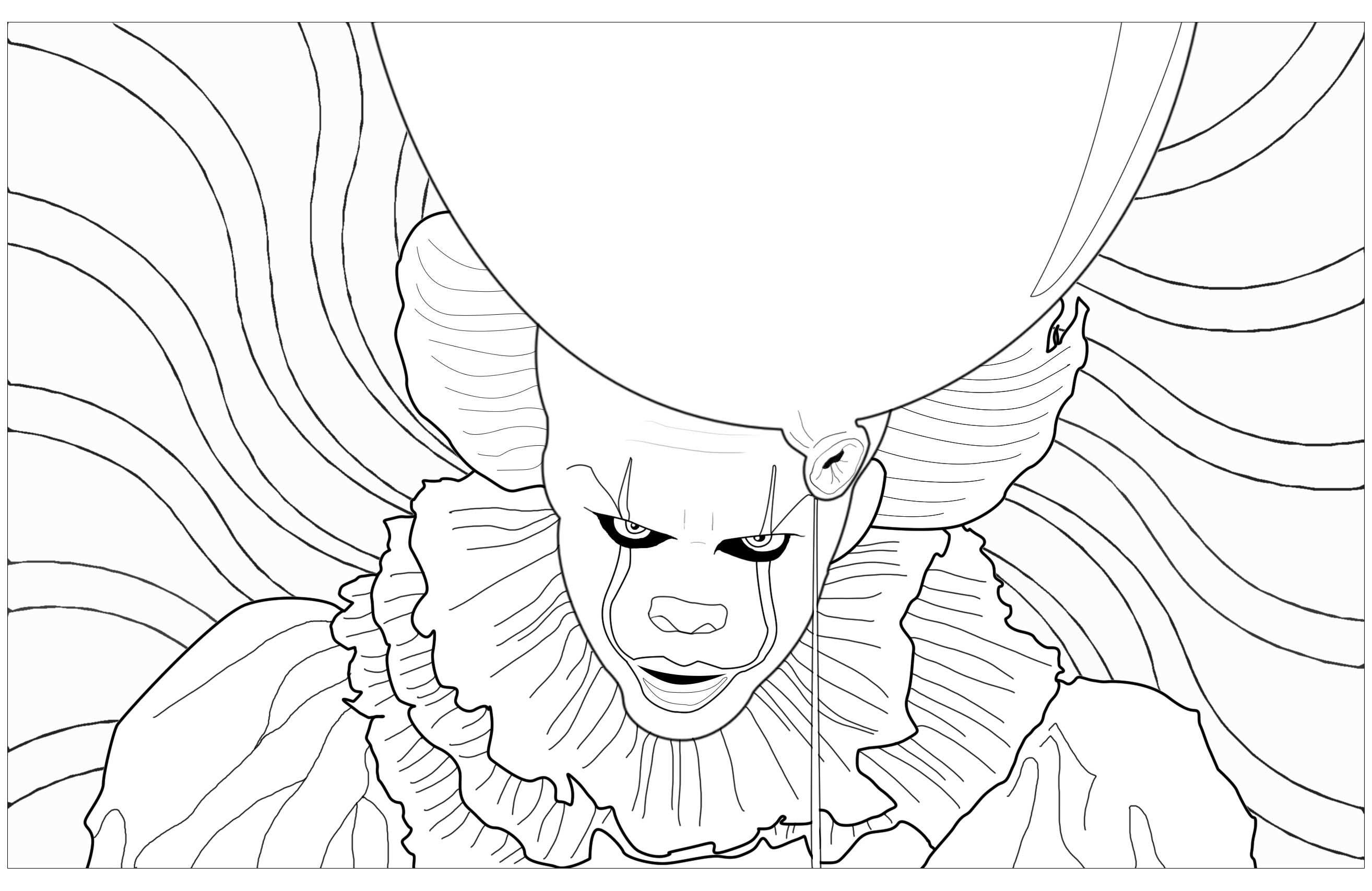 Pennywise The Maleficent Clown From The 2017 Movie It From