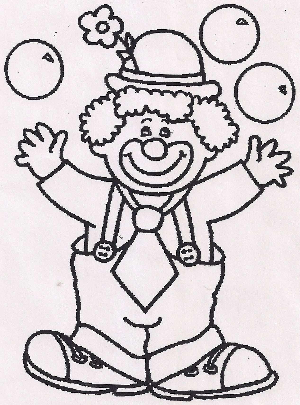Kleurplaat Clown Con Immagini Carnevale Disegni Da Colorare