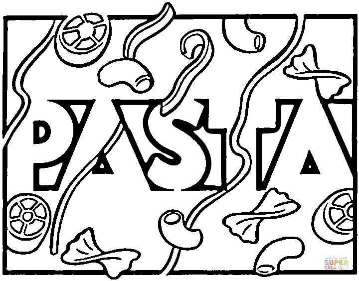 Italian Pasta Coloring Page Free Printable Coloring Pages Pisa