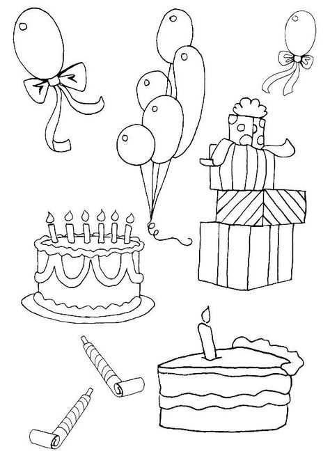 Kleurplaat Verjaardag Feest Porcelana