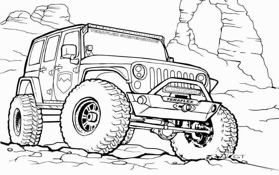 Kleurplaat Coole Jeep Google Zoeken Met Afbeeldingen