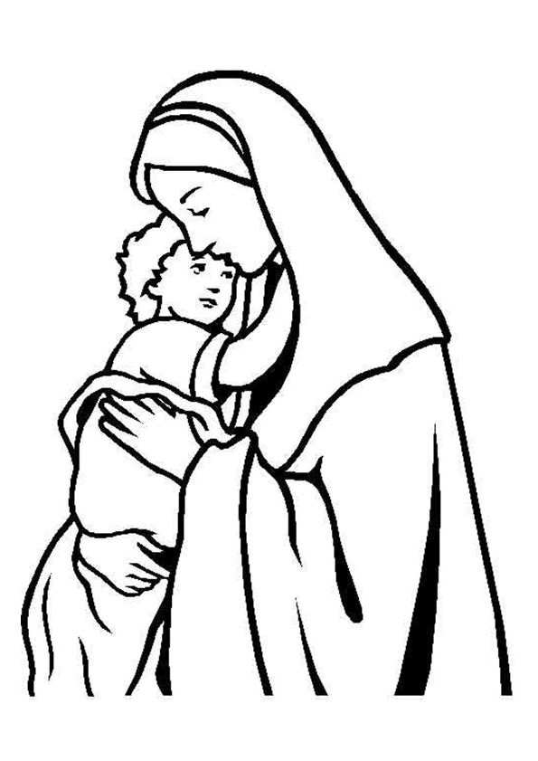 Jezus En Maria Kleurplaten Kerstmis Kleurplaten