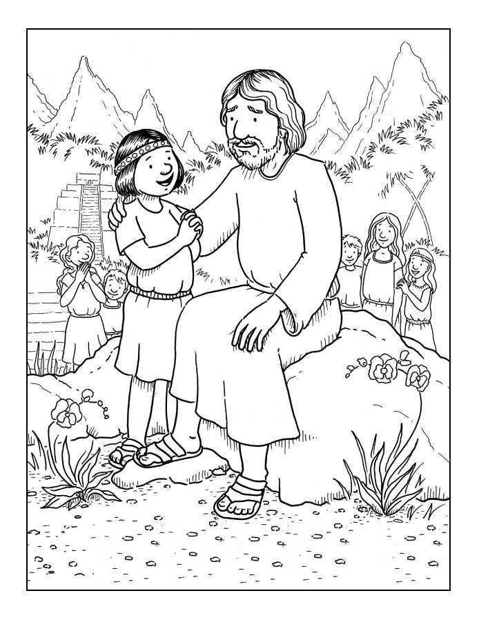 Kleurplaten Categorie Jezus Laat De Kinderen Tot Mij Komen