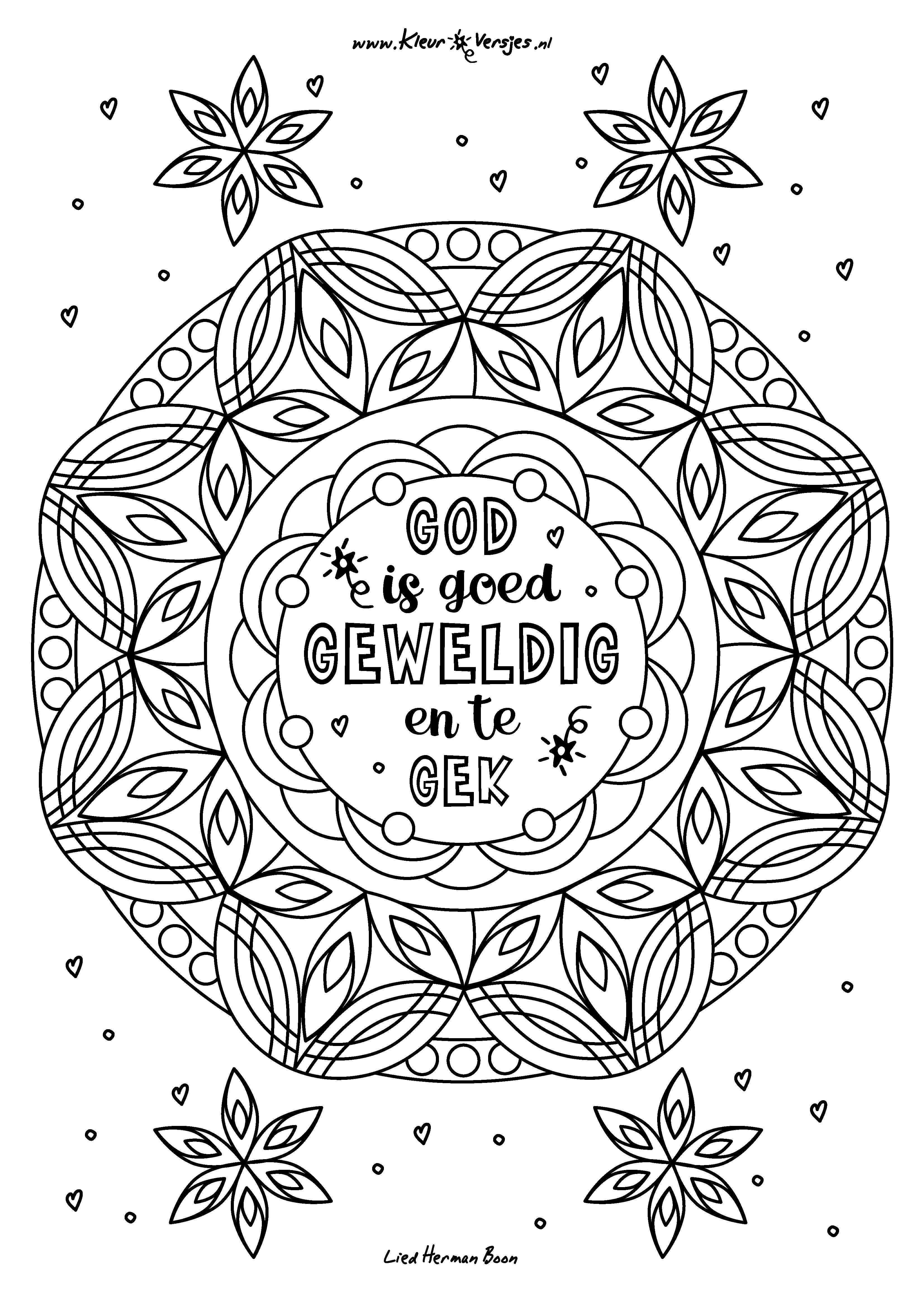 042 Kleurplaten Bijbelknutselwerk God Is Goed