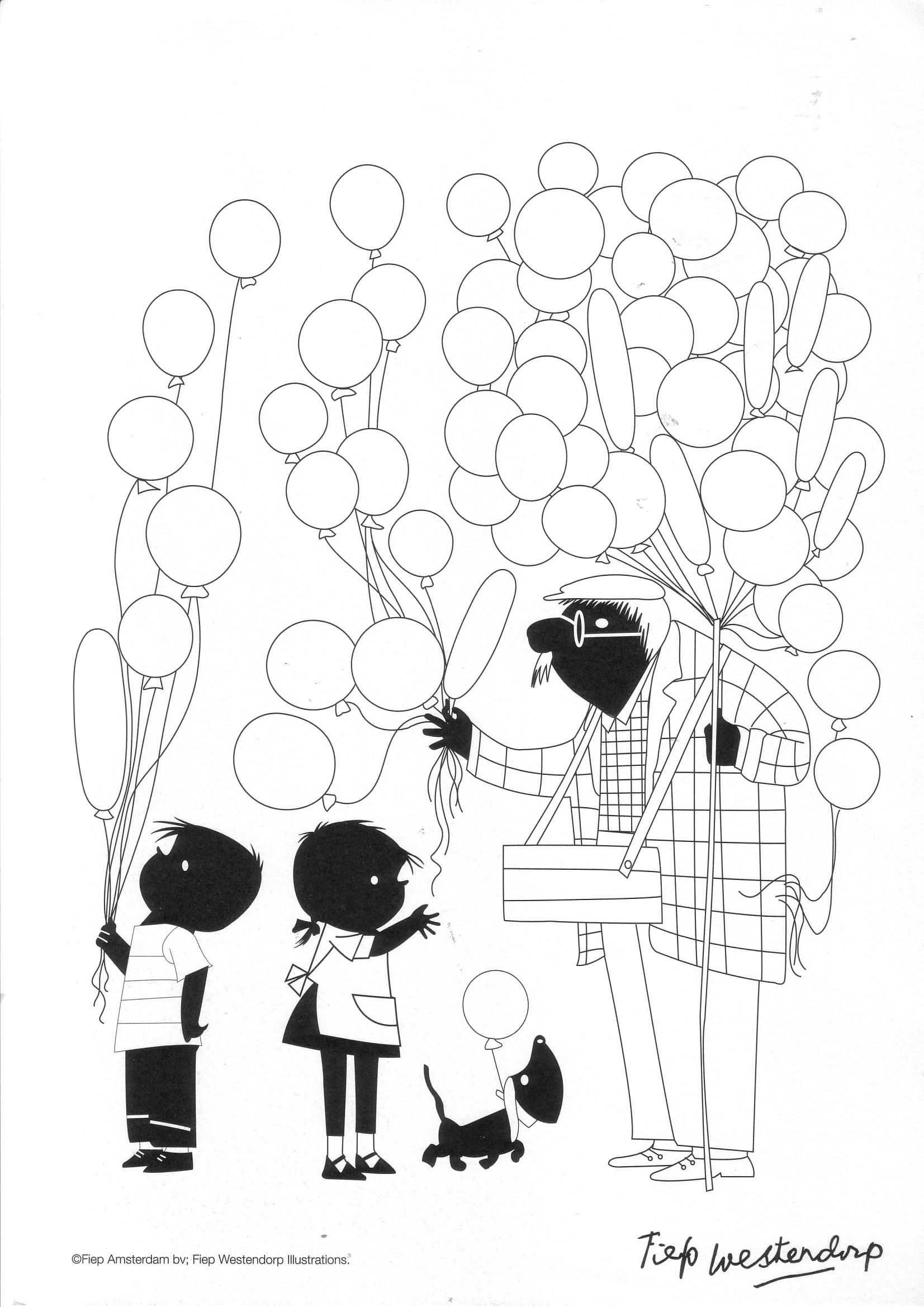 Jip En Janneke Ballonnen Kleurplaten Ballonnen En Knutselen