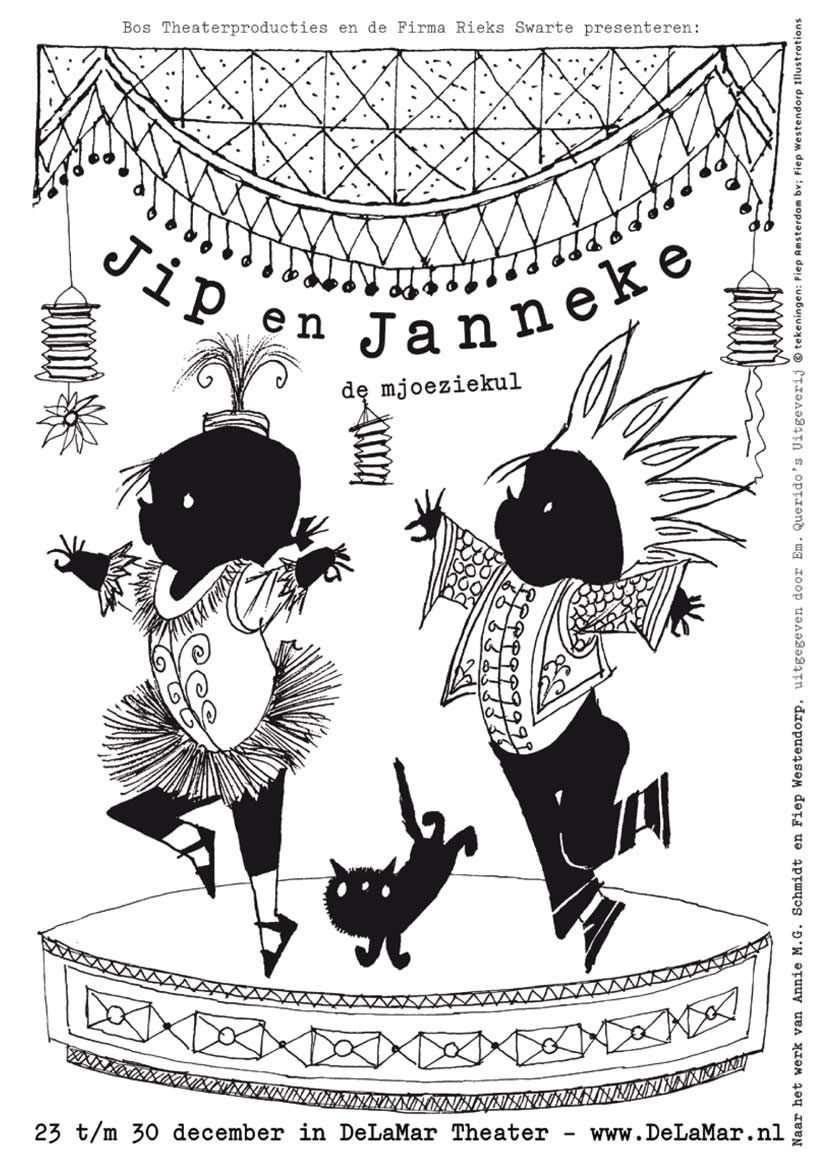 Kleurplaat Jip En Janneke Feest