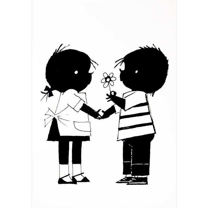 Poster Jip En Janneke Bloem Hikjes In Huis Thema