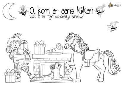 Kleurplaten Sinterklaas Jufbijtje Nl Sinterklaas Kleurplaten