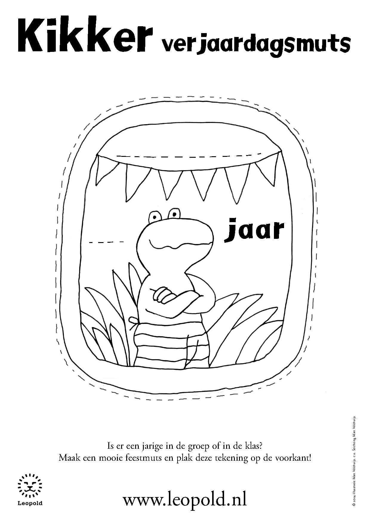 Jules Jarig Kleurplaat Met Afbeeldingen Verjaardag Knutselen