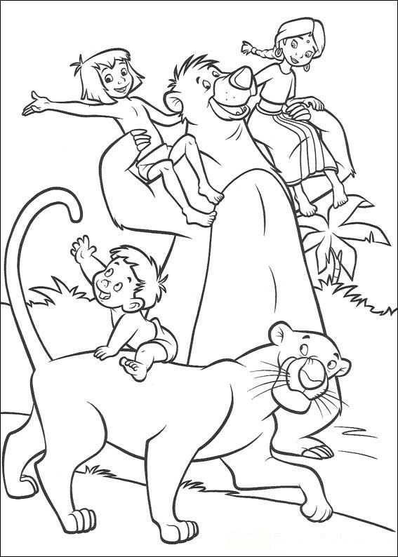 Kleurplaat Jungle Boek 2 Jungle Boek 2 Kleurplaten Disney