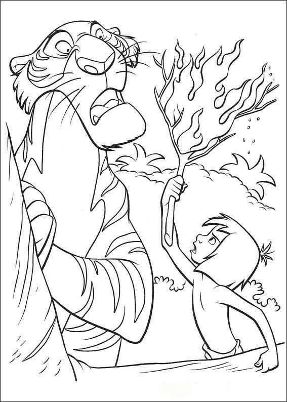 Kleurplaat Jungle Boek Jungle Book Disney Coloring Pages