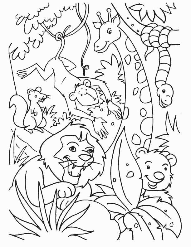 Jungle Animal Coloring Sheets In 2020 Kleurplaten Jungle Thema