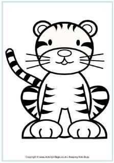 Tijger Kleurplaat Kids Printable Coloring Pages Tiger Crafts