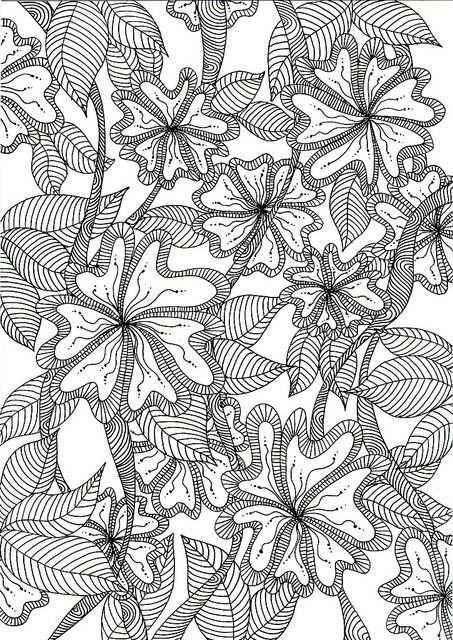 Jungle Flowers Kleurplaten Kleurplaten Voor Volwassenen En Kleuren