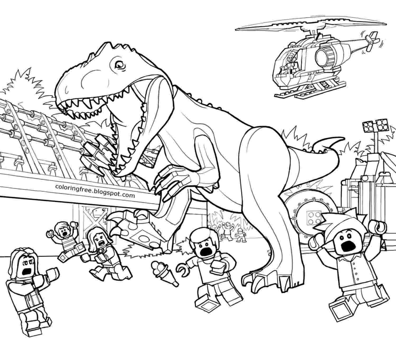 Coloring Festival Jurassic World Lego Coloring Pages More Than
