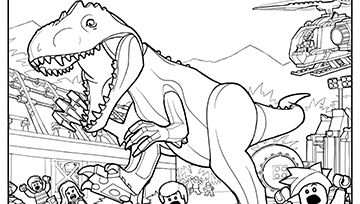 Downloadable Lego Jurassic World Colouring Pages With Images