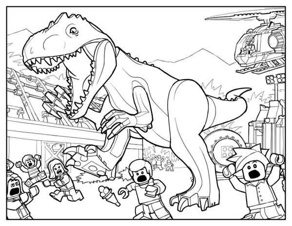 Coloring Pages Of Jurassic World Lego Coloring Pages Dinosaur
