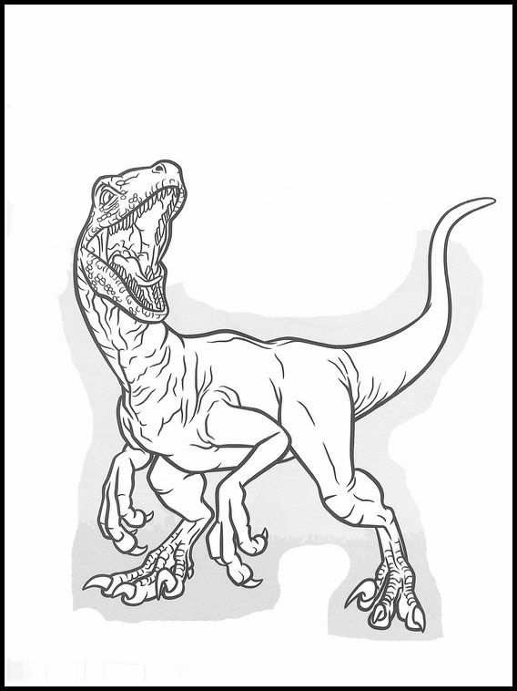 Jurassic World 37 Printable Coloring Pages For Kids Dinosaur
