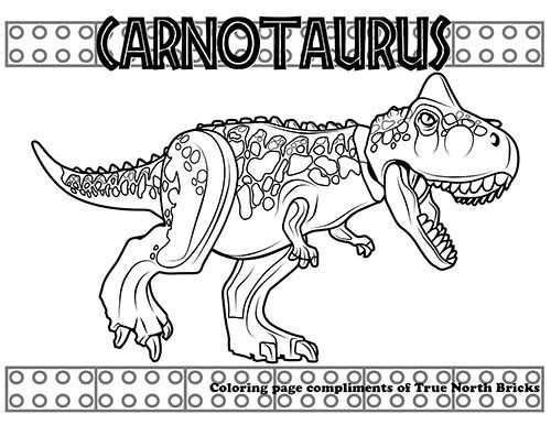 Coloring Page Carnotaurus Met Afbeeldingen Kleurboek