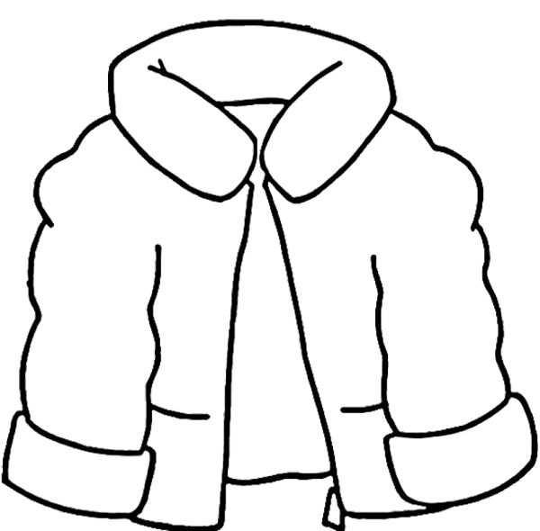 Kleurplaat Winterjas Winterkledij Kleurplaten En Winter Kleuren