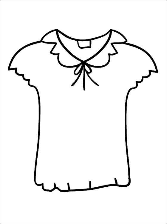 Kleurplaat Met Een Bloes Gratis Kleurplaten Doll Clothes